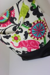 "The ""Bucket Bag"" in fun whimsical print"