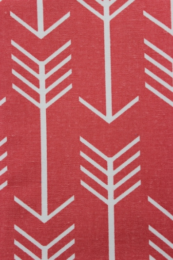 coral arrow fabric